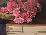 """Натюрморт с садовыми розами"" 45х55 см, х/м, Костенко А.С. photo 5"