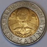 Сан-Марино 500 лір, 1998