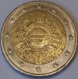 Австрія 2 євро, 2012 10 років готівковому євро