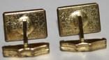 7.Запонки латунные с камнем (СССР), фото №5