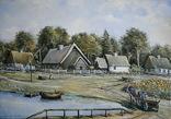 Деревня  масло холст 50х35 А.Акулов, фото №2