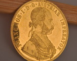 Австрия 4 дуката 1915 золото 13,98 грамм 986' фото 4