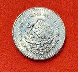 Мексика 1 унция 1985 серебро аАНЦ, фото №3