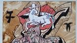 """Картина """"Овен"""", папір, акварель, туш, 42х31 см, фото №4"""