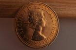 1 фунт (соверен) 1966 года. Великобритания фото 2