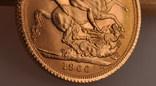1 фунт (соверен) 1966 года. Великобритания фото 4