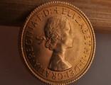 1 фунт (соверен) 1966 года. Великобритания фото 7