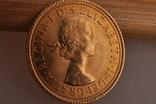 1 фунт (соверен) 1966 года. Великобритания фото 8