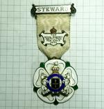 Награда масонов STEWARD. Серебро. RMIG 1932 г., фото №3