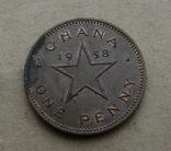 1 Пенни 1958 Гана, фото №2