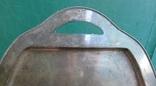 Большой мельхиоровый поднос. photo 2