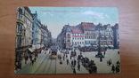 Открытка Дрезден. Германия. Повозки. Автомобили.Трамвай. Транспорт, фото №2