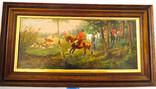 Европейская живопись Королевская охота A. Gerhard