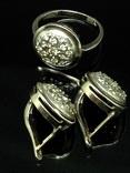 Кольцо и серьги,  позолота, фото №7