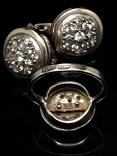 Кольцо и серьги,  позолота, фото №9
