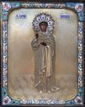 Икона «Св. царица Александра, стиль «Русский модерн».