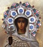 Икона «Св. царица Александра, стиль «Русский модерн». фото 4