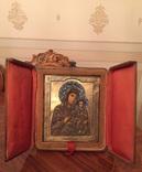 Икона «Смоленской Божией Матери, оклад серебро, 84 пробы, скань, зернь, эмали. фото 2