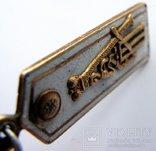 Памятный жетон с золотым вензелем Александра III, фото №8