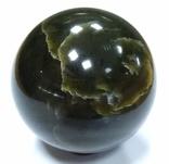 Шар из нефрита. Нефритовый шар. Шар из камня. Саянский нефрит., фото №2