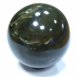 Шар из нефрита. Нефритовый шар. Шар из камня. Саянский нефрит., фото №3