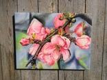 Картина маслом 30х40 Цветение яблони, фото №3