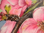 Картина маслом 30х40 Цветение яблони, фото №4