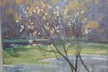 Антипов М.В. Весенний пейзаж. 1989. 60*60, фото №6