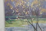 Антипов М.В. Весенний пейзаж. 1989. 60*60, фото №7
