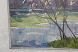 Антипов М.В. Весенний пейзаж. 1989. 60*60, фото №8