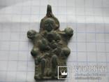 Іконка Богородиця сидяча на троні з дитям