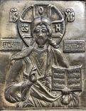 Икона-пластика бронза Деисус, фото №5