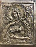 Икона-пластика бронза Деисус, фото №8