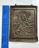 Икона-пластика бронза Деисус, фото №13