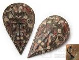 Большая пуговица с эмалью КР, дробница щитовидная , процветший крест крин, фото №2