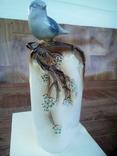 Птичка на ветке. Фарфор состояние отличное коллекцыоное., фото №3