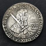 1662 г. 1 талер Иоан Германия (Средневеко́вье) копия, фото №2