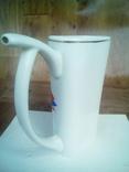 Чашка фарфор с рисунком птицы., фото №4