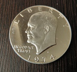 1 Доллар 1974 Пруф, фото №2