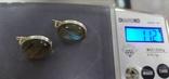 Серьги и кольцо с лабрадором. Лабрадор в серебре., фото №6