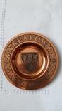 Сувенирная медная тарелка Краков, фото №2