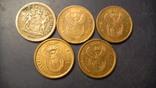 5 центів Південна Африка (порічниця) 5шт, всі різні, фото №2