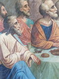 Икона Тайная вечеря на холсте, фото №6