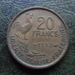 20 франков  1952   Франция    ($1.1.39) ~, фото №2