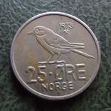 25  эре 1973  Норвегия    ($1.1.41) ~, фото №3