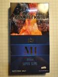 Сигареты M1 BLUE SUPER SLIMS