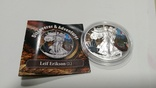 "2016 Leif Erikson серия ""Discoverer Adventurer"", 1oz Ag999 silver Eagle,США,5000 шт, фото №3"
