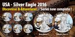 "2016 Leif Erikson серия ""Discoverer Adventurer"", 1oz Ag999 silver Eagle,США,5000 шт, фото №5"