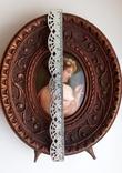 Старинная миниатюра, живопись на фарфоре, C&A Schwicker, фото №4