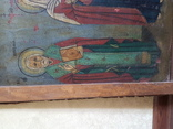 Икона Св.Николай, Богородица, Св.Варвара, Иисус Христос, фото №3